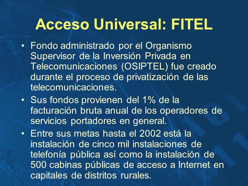Acceso Universal: FITEL