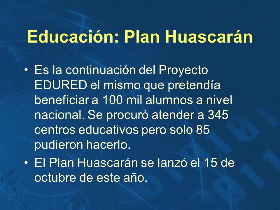 Educación: Plan Huascarán