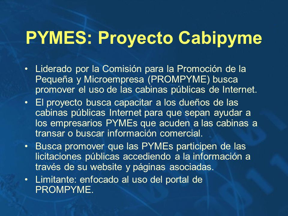 PYMES: Proyecto Cabipyme