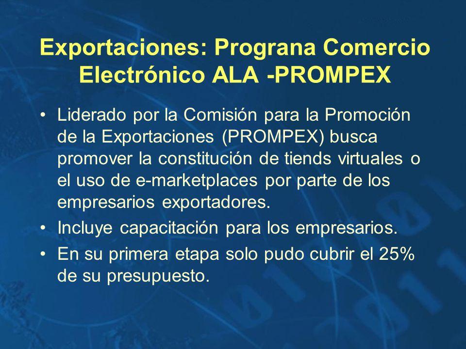 Exportaciones: Prograna Comercio Electrónico ALA -PROMPEX