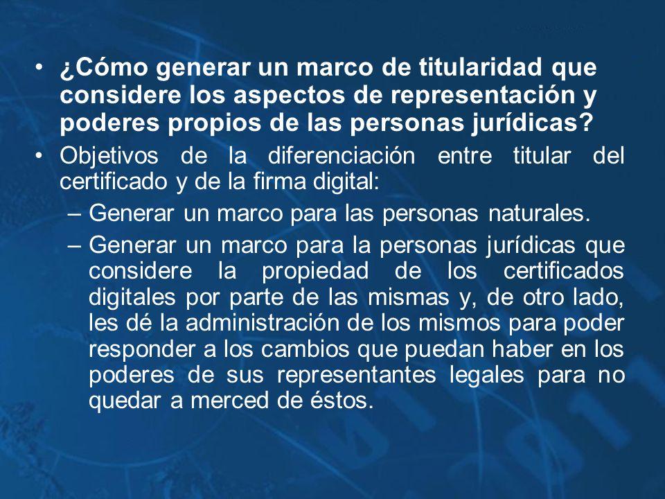 ¿Cómo generar un marco de titularidad que considere los aspectos de representación y poderes propios de las personas jurídicas
