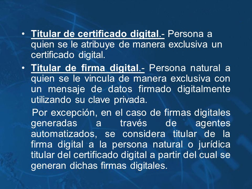 Titular de certificado digital