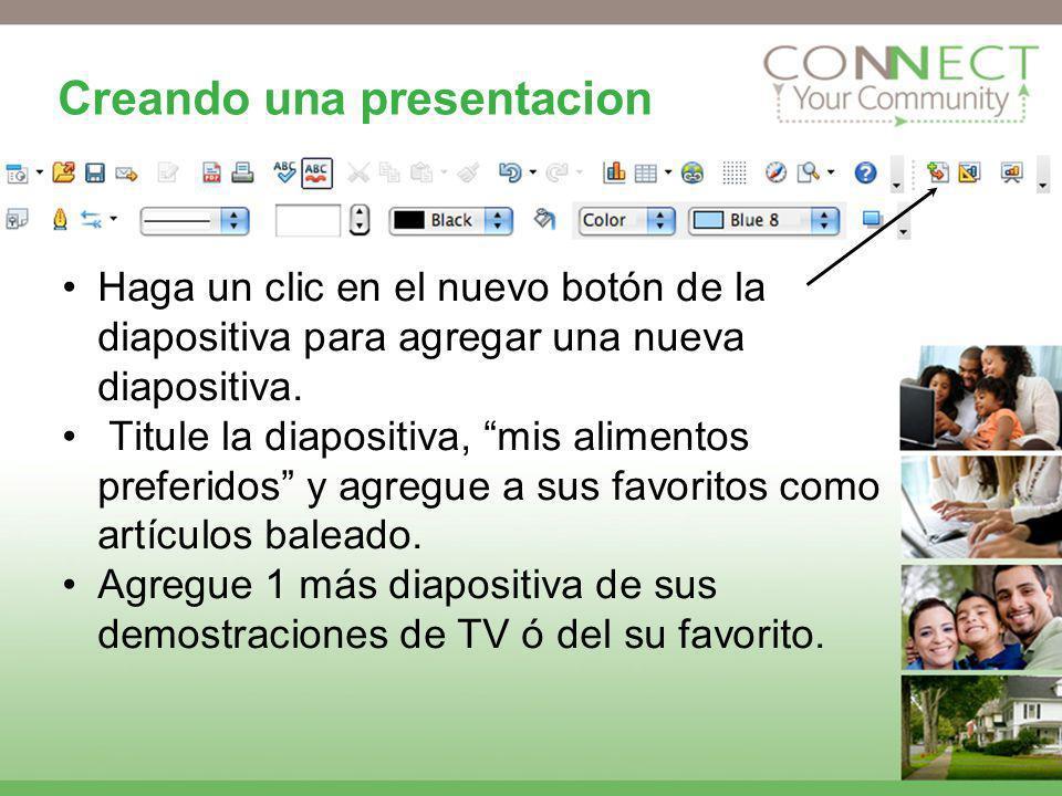 Creando una presentacion