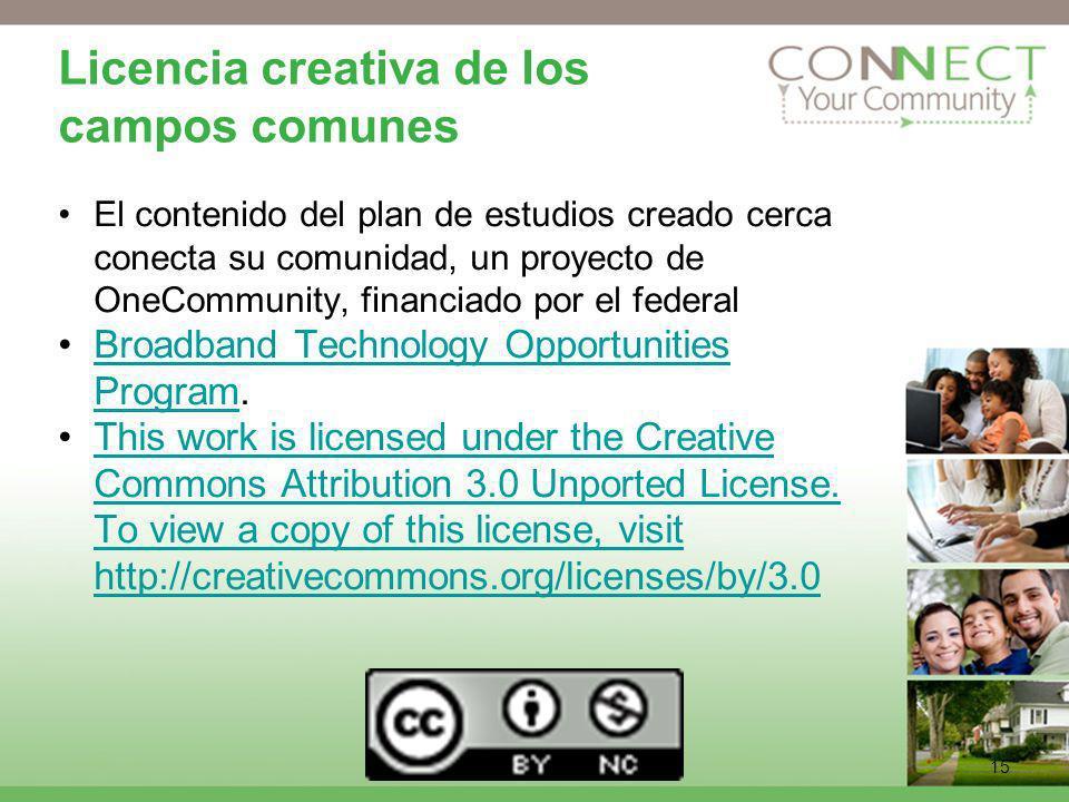 Licencia creativa de los campos comunes