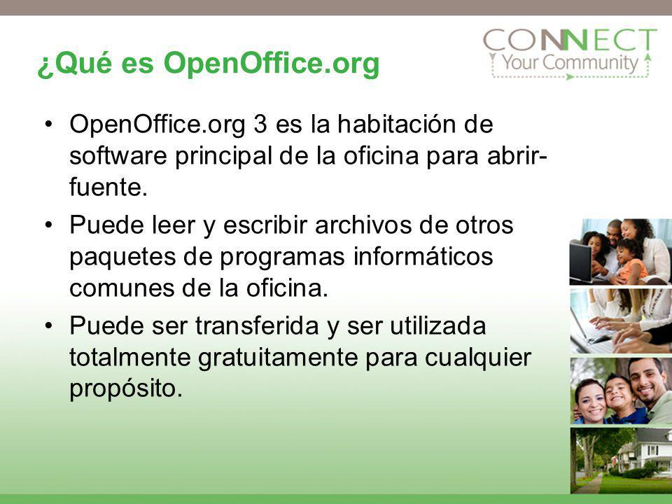 ¿Qué es OpenOffice.org OpenOffice.org 3 es la habitación de software principal de la oficina para abrir- fuente.