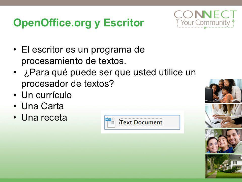 OpenOffice.org y Escritor