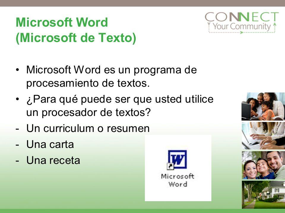Microsoft Word (Microsoft de Texto)