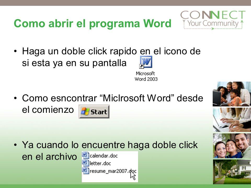 Como abrir el programa Word