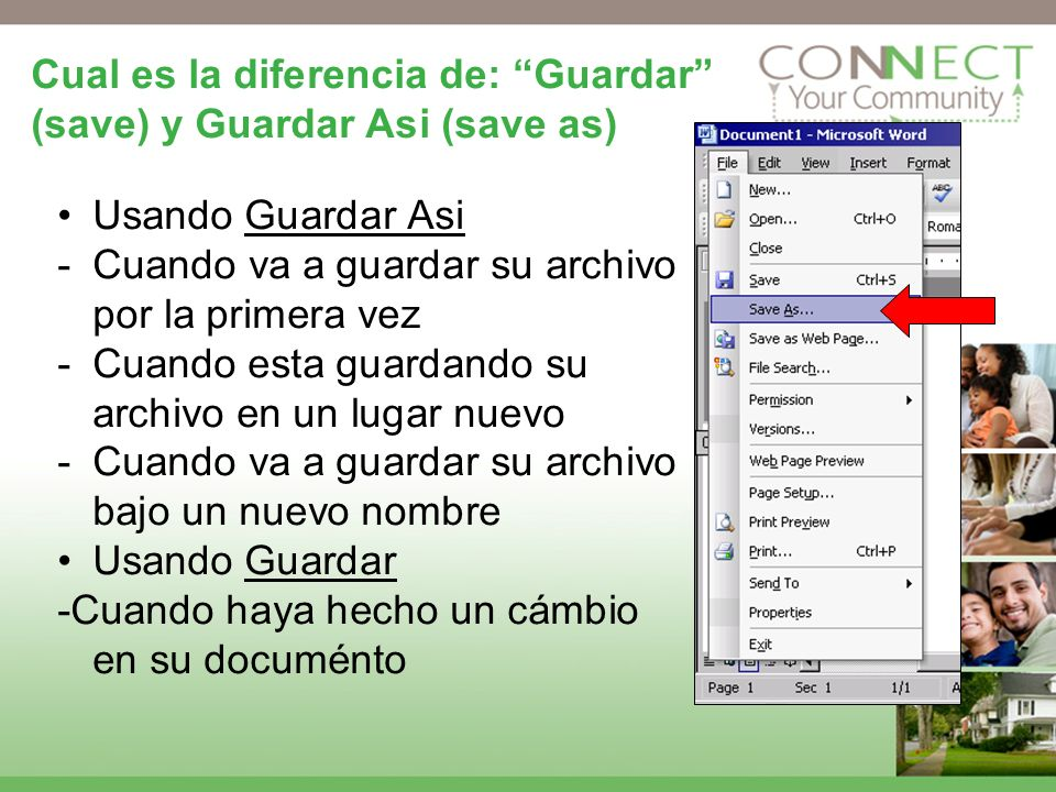 Cual es la diferencia de: Guardar (save) y Guardar Asi (save as)