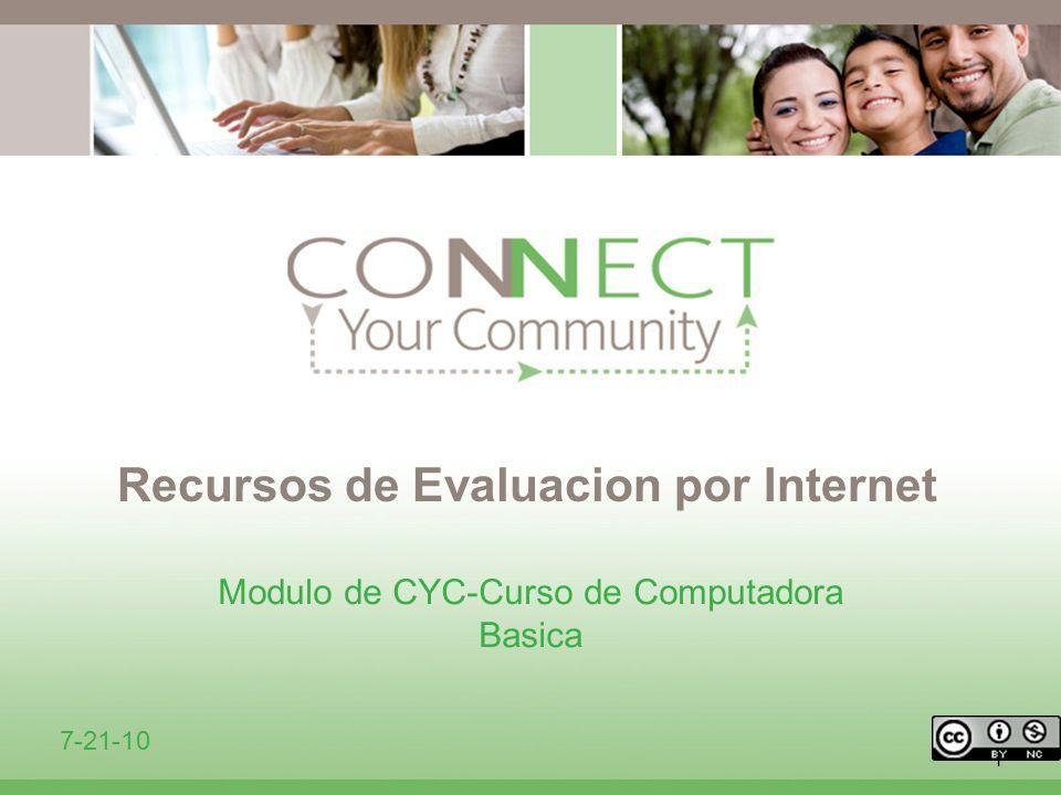Recursos de Evaluacion por Internet