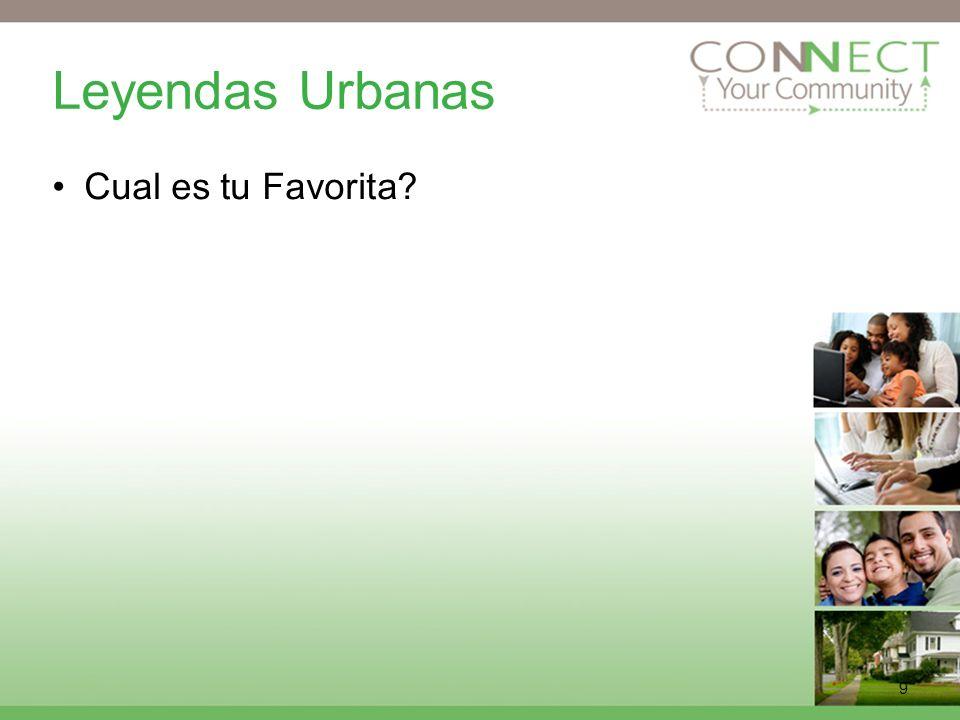 Leyendas Urbanas Cual es tu Favorita Can anyone name an urban legend