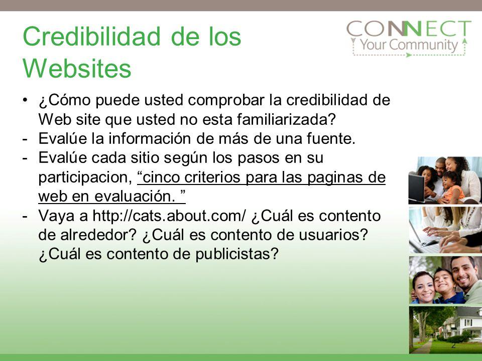 Credibilidad de los Websites