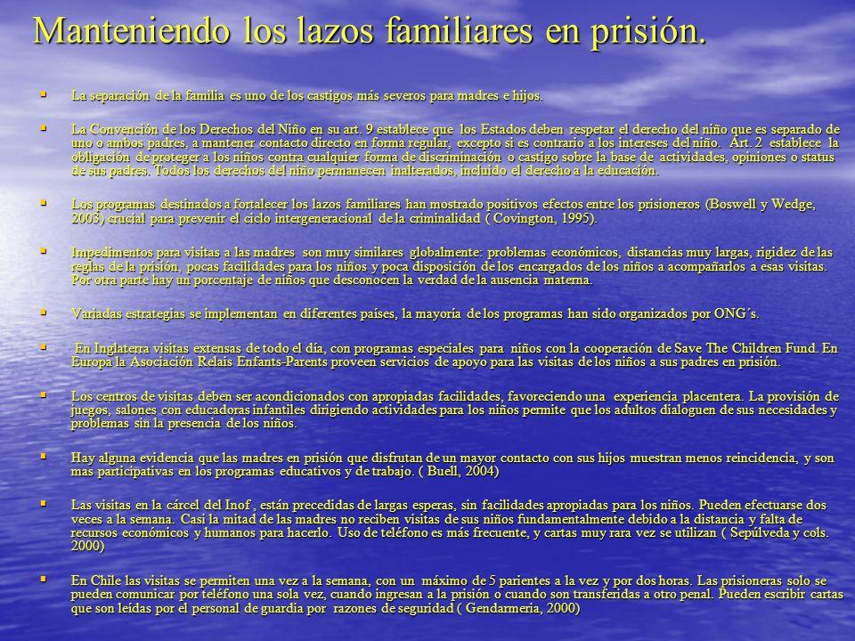 Manteniendo los lazos familiares en prisión.