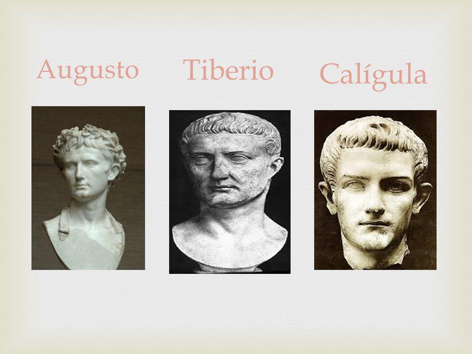 Calígula Augusto Tiberio