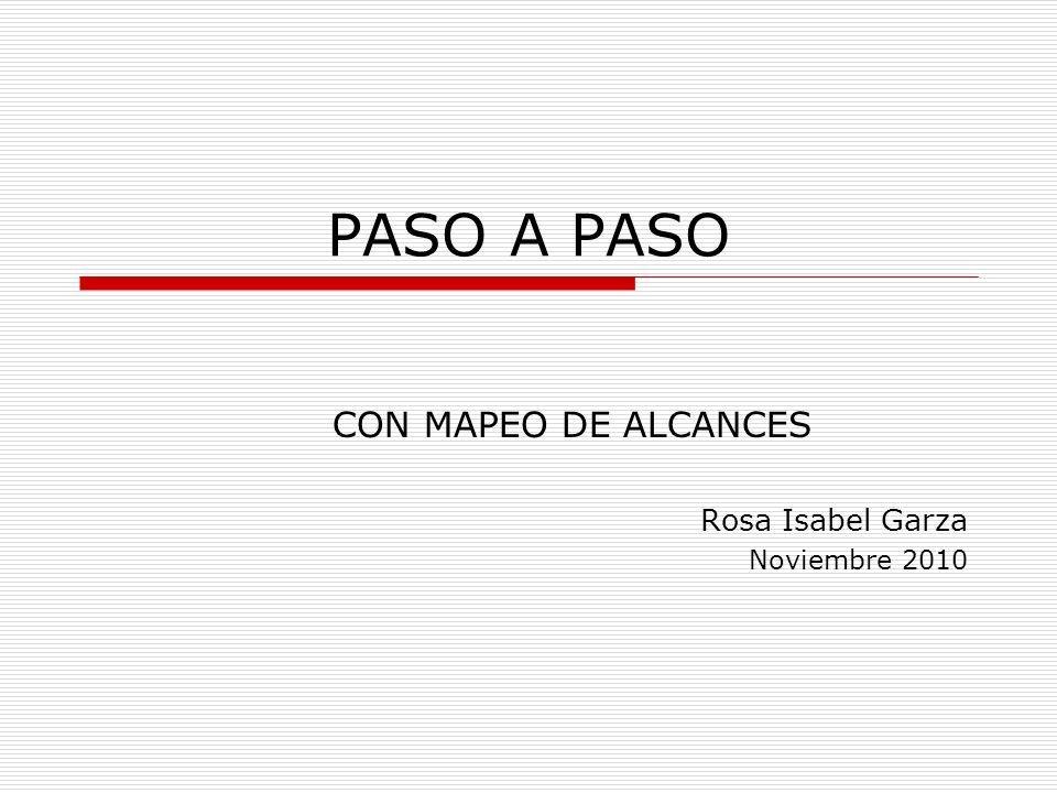CON MAPEO DE ALCANCES Rosa Isabel Garza Noviembre 2010