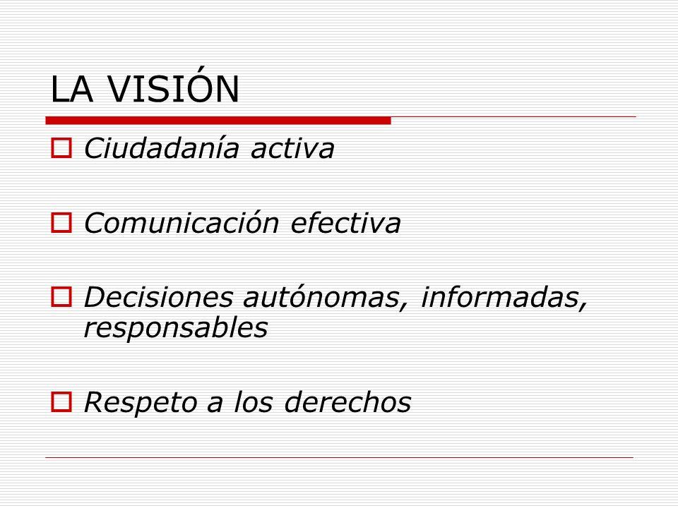 LA VISIÓN Ciudadanía activa Comunicación efectiva