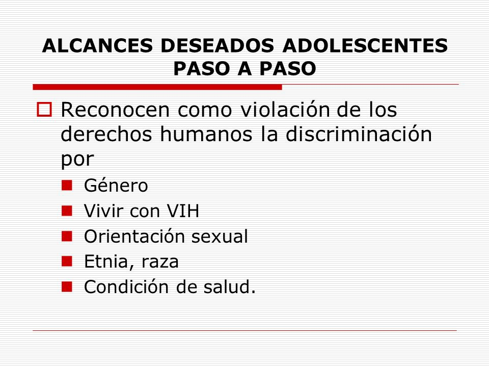 ALCANCES DESEADOS ADOLESCENTES PASO A PASO