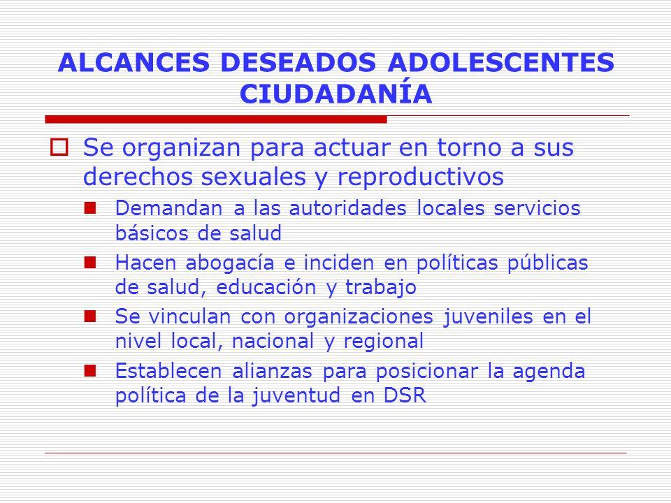 ALCANCES DESEADOS ADOLESCENTES CIUDADANÍA