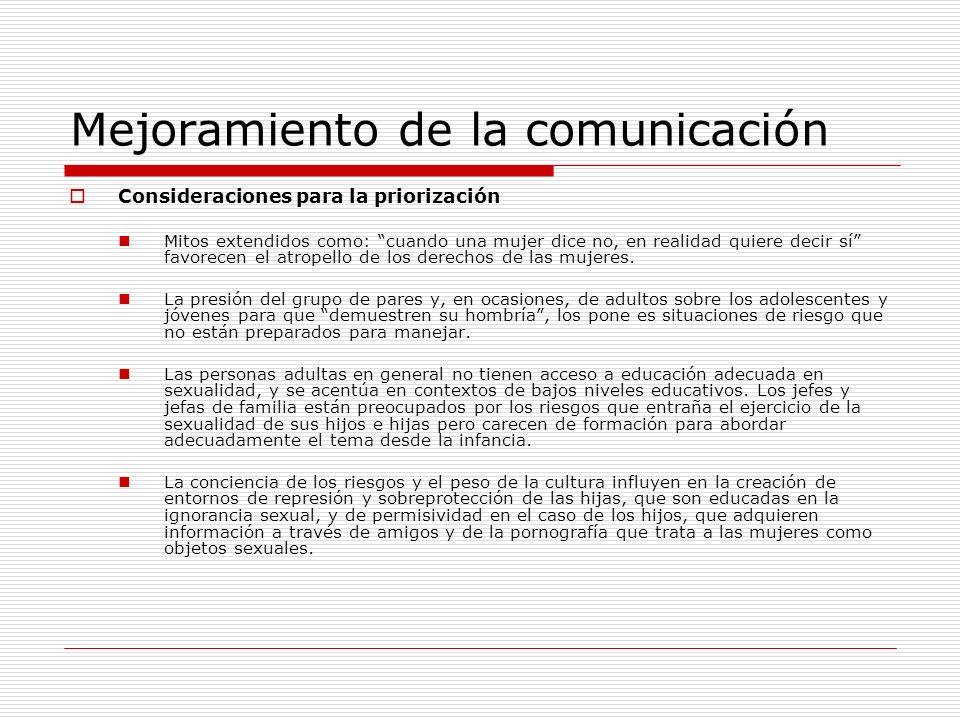 Mejoramiento de la comunicación