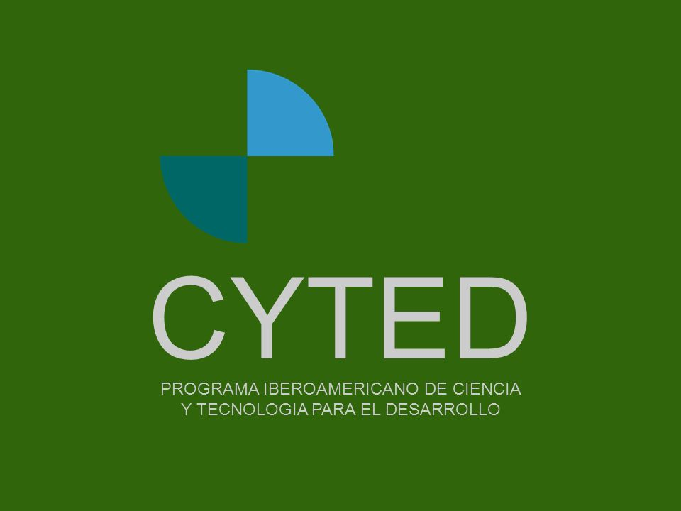 CYTED Portada PROGRAMA IBEROAMERICANO DE CIENCIA