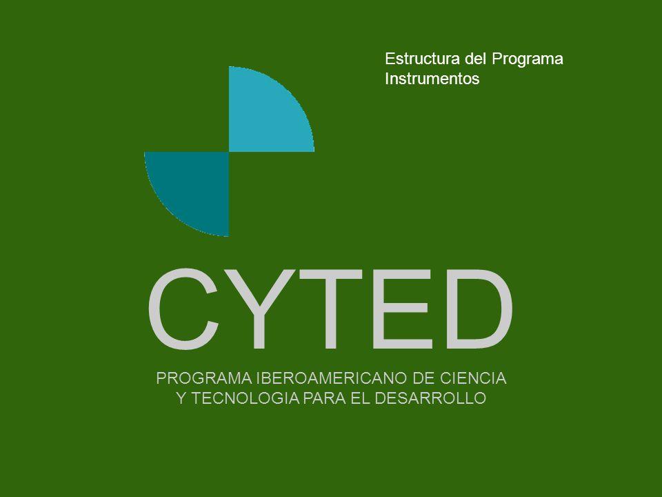 CYTED Estructura del Programa Instrumentos - - - - - - - - Portada