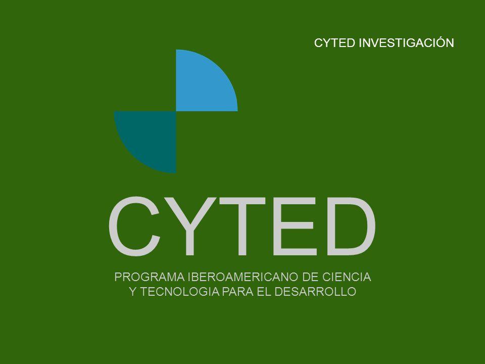 CYTED CYTED INVESTIGACIÓN - - - - - - - - Portada