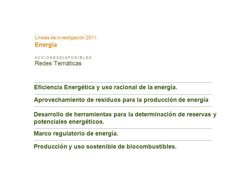 Líneas de investigación 2011: Energía