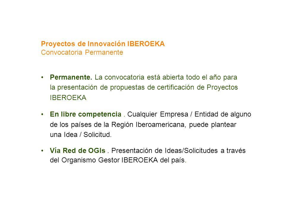 Proyectos de Innovación IBEROEKA Convocatoria Permanente