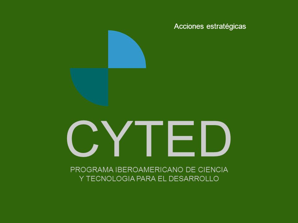 CYTED Acciones estratégicas Portada - - - - - - - -