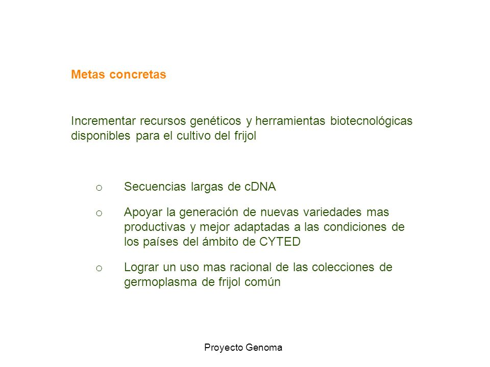 Secuencias largas de cDNA