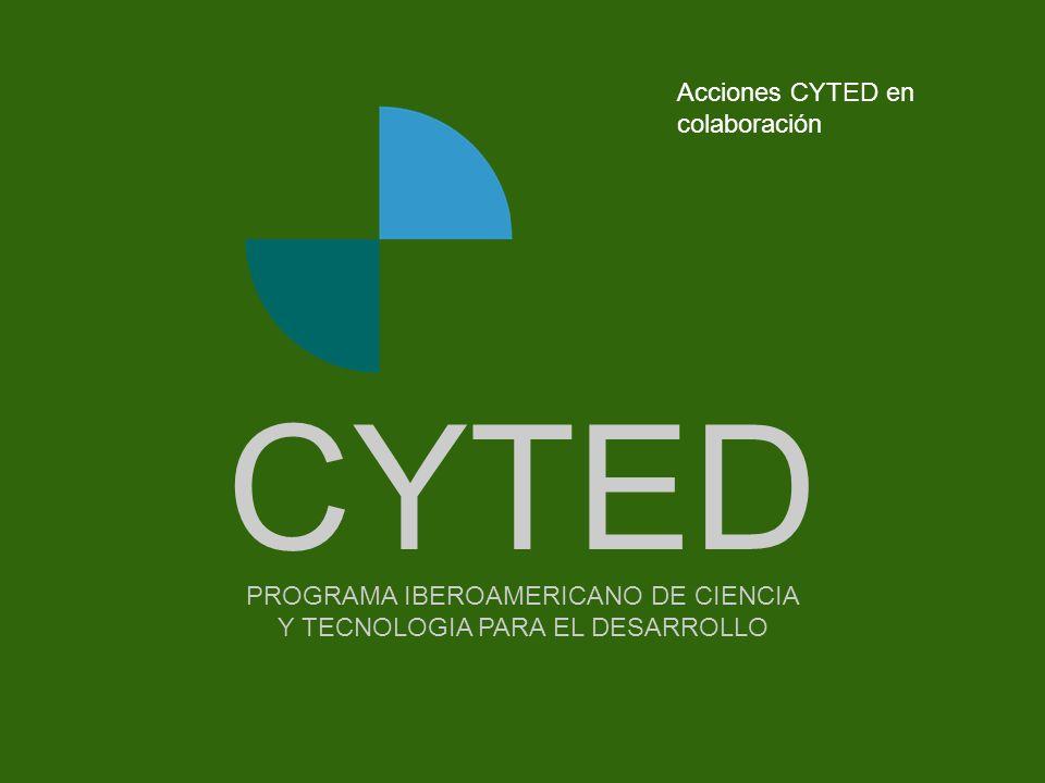 CYTED Acciones CYTED en colaboración - - - - - - - - Portada