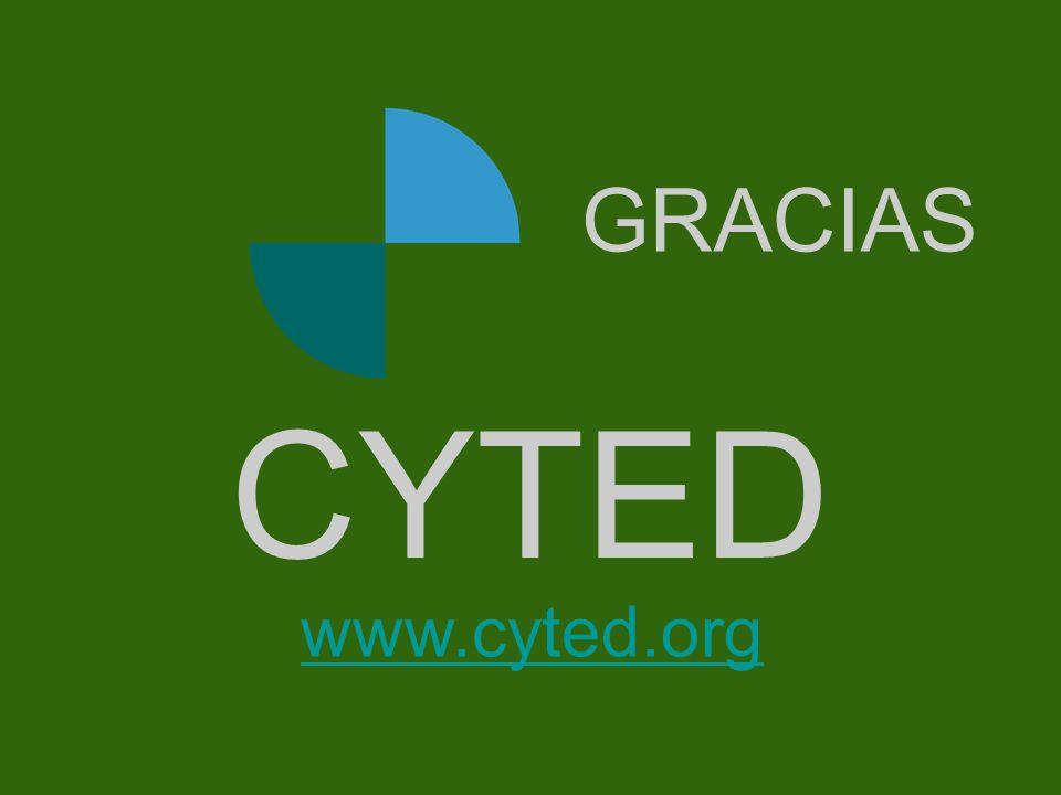 Portada GRACIAS CYTED www.cyted.org