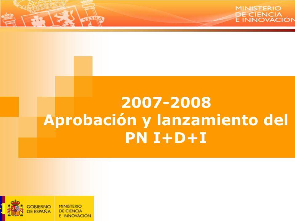 2007-2008 Aprobación y lanzamiento del PN I+D+I