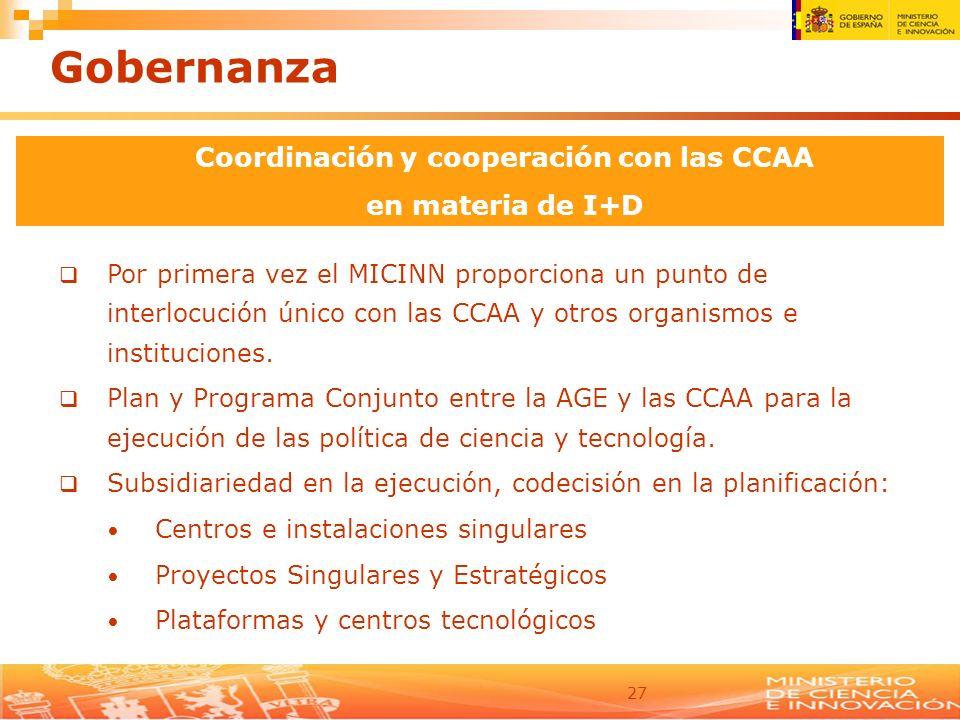 Coordinación y cooperación con las CCAA