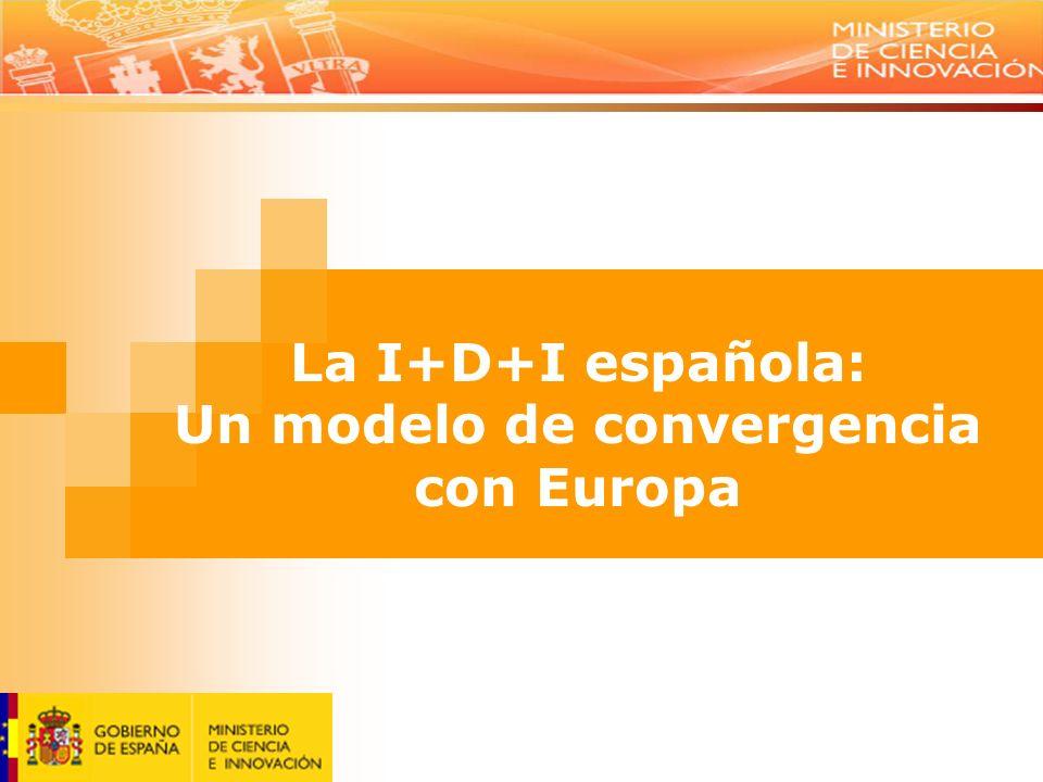 La I+D+I española: Un modelo de convergencia con Europa