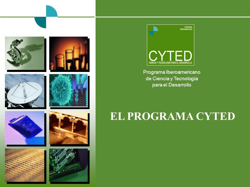 EL PROGRAMA CYTED Programa Iberoamericano de Ciencia y Tecnología