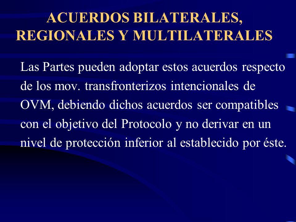 ACUERDOS BILATERALES, REGIONALES Y MULTILATERALES