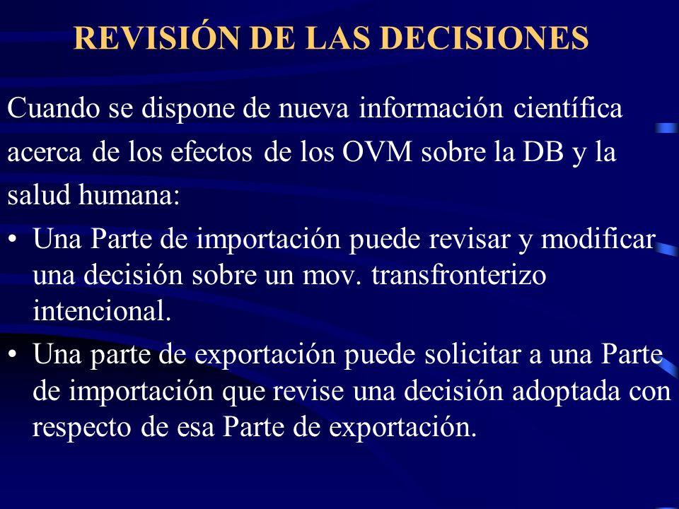REVISIÓN DE LAS DECISIONES