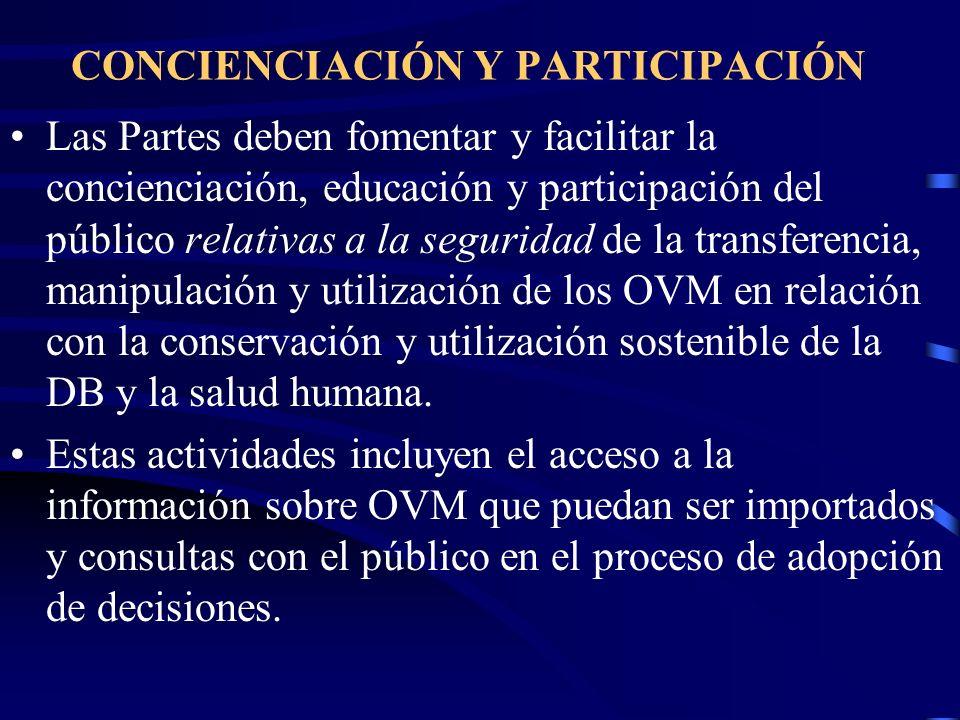 CONCIENCIACIÓN Y PARTICIPACIÓN