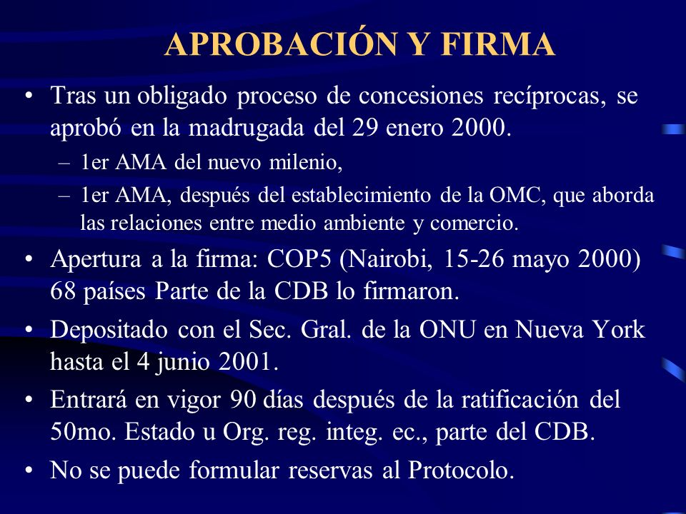 APROBACIÓN Y FIRMA Tras un obligado proceso de concesiones recíprocas, se aprobó en la madrugada del 29 enero 2000.