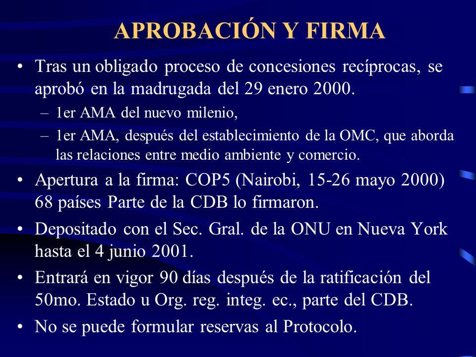 APROBACIÓN Y FIRMATras un obligado proceso de concesiones recíprocas, se aprobó en la madrugada del 29 enero 2000.