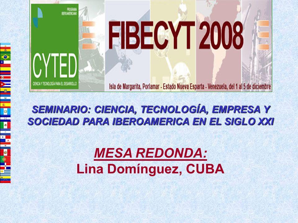 MESA REDONDA: Lina Domínguez, CUBA