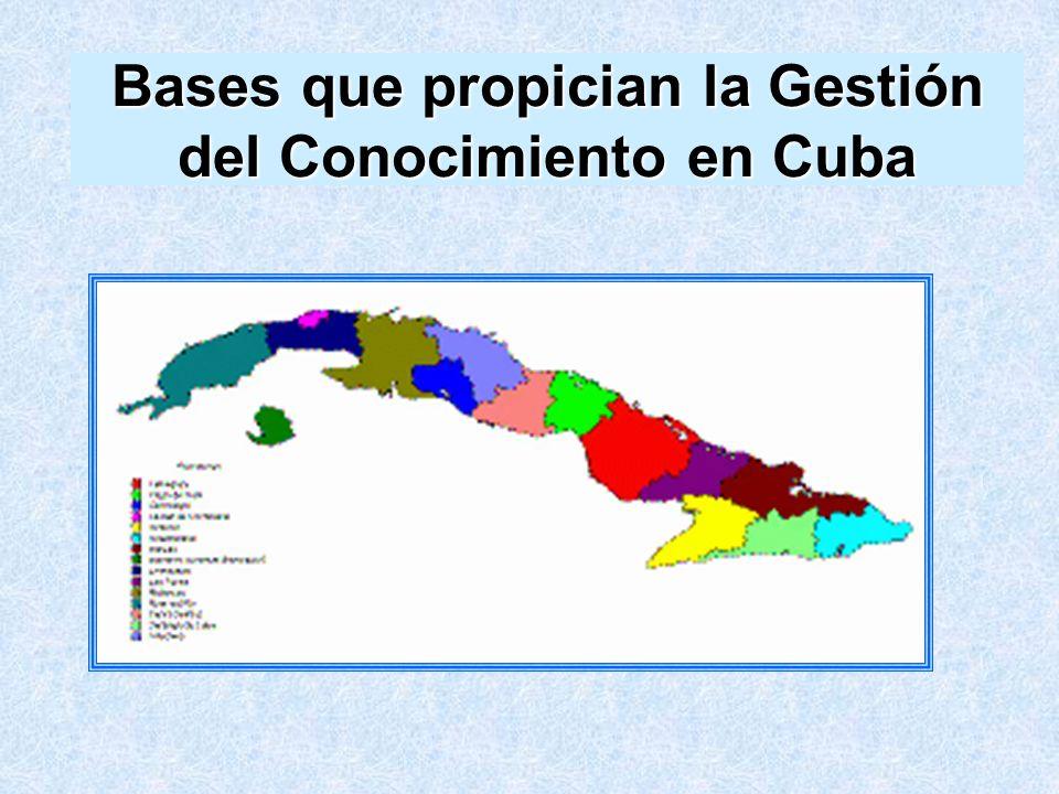 Bases que propician la Gestión del Conocimiento en Cuba