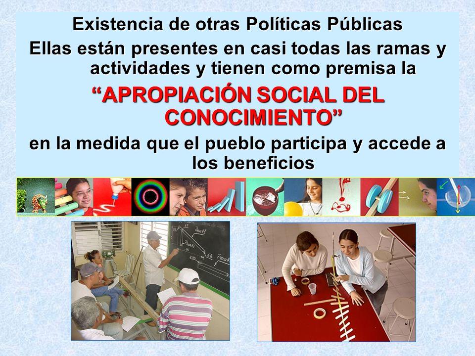 APROPIACIÓN SOCIAL DEL CONOCIMIENTO