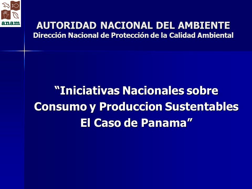Iniciativas Nacionales sobre Consumo y Produccion Sustentables