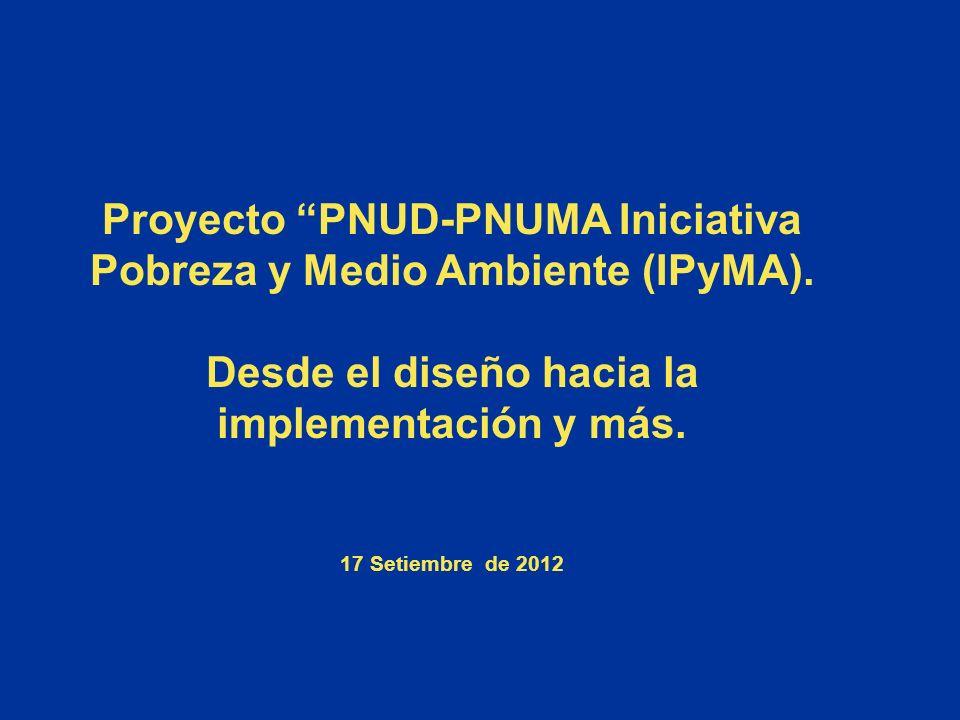 Proyecto PNUD-PNUMA Iniciativa Pobreza y Medio Ambiente (IPyMA).