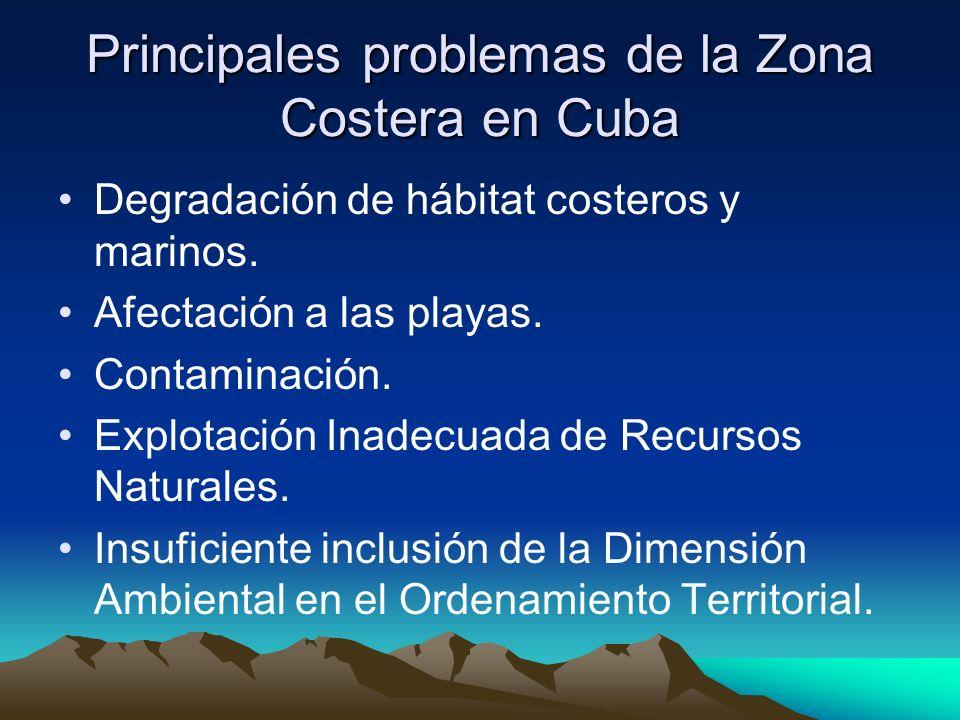 Principales problemas de la Zona Costera en Cuba