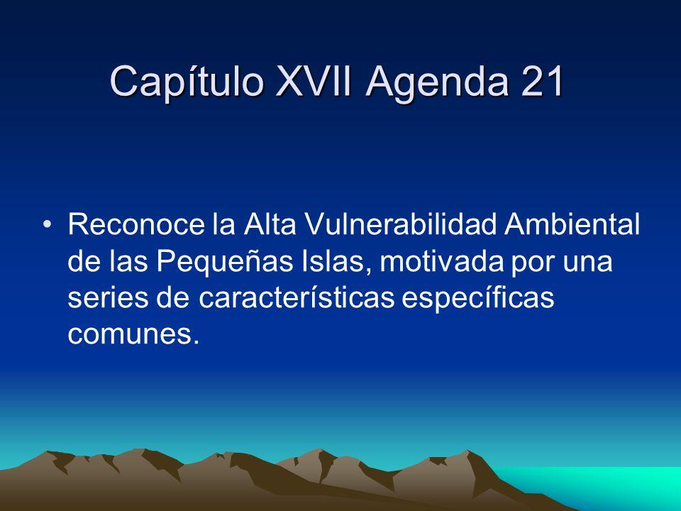Capítulo XVII Agenda 21
