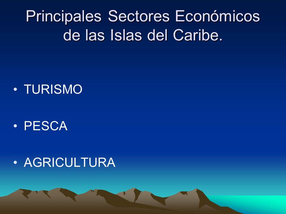 Principales Sectores Económicos de las Islas del Caribe.