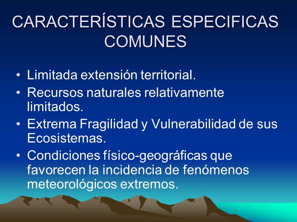 CARACTERÍSTICAS ESPECIFICAS COMUNES